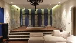 MARTIN RESIDENCE: modern Living room by CARTWHEEL