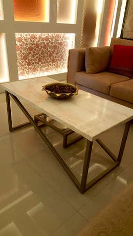 SANDEEP RESIDENCE: modern Living room by CARTWHEEL