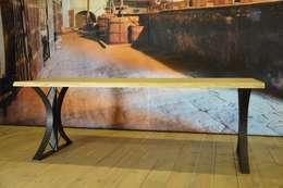 Industriële tafel Vlist: industriële Eetkamer door Meubelpassie