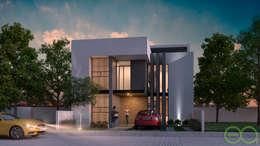 Fachada Principal : Casas de estilo moderno por Eutopia Arquitectura