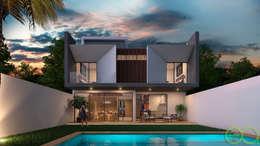 Fachada Posterior: Casas de estilo moderno por Eutopia Arquitectura