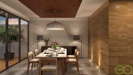 Interior Comedor: Comedores de estilo moderno por Eutopia Arquitectura