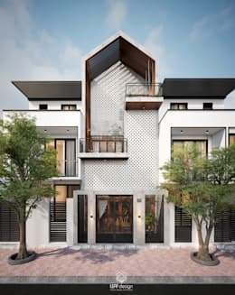 Cảm xúc Á Đông - Nhà phố Sài Gòn:  Nhà by LEAF Design