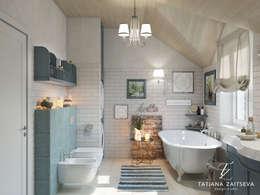 Ванные комнаты в . Автор – Design studio TZinterior group