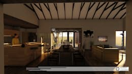 House Snyman: country Dining room by Property Commerce Architects