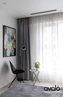 Căn hộ phong cách Avalo Đương Đại:  Phòng ngủ by Công ty cổ phần NỘI THẤT AVALO