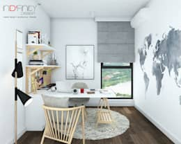 Scandinavian Design . Condominium: scandinavian Study/office by inDfinity Design (M) SDN BHD