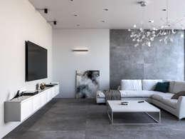 Brooklyn Gris 75x150: Salones de estilo moderno de Azulev
