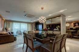 Sala: Salas de jantar modernas por Dome arquitetura