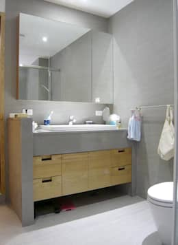 內湖康寧丁公館:  浴室 by 第宅空間設計