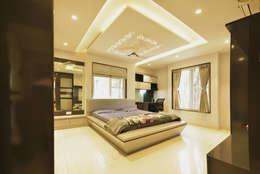 غرفة نوم تنفيذ GREEN HAT STUDIO PVT LTD