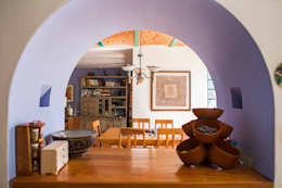 Detalle Arco: Comedores de estilo mediterraneo por Bojorquez Arquitectos SA de CV