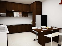 County dark:  Built-in kitchens by Inshows Displays Private Limited