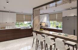 Armarios de cocinas de estilo  por Comelite Architecture, Structure and Interior Design