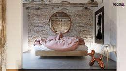 DORMITORIO ACOGEDOR CON ENCANTO: Dormitorios de estilo moderno de La Pecera Estudio Creativo