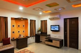 Sumit residence: modern Living room by B.N.Interiors