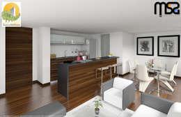 Área social: Comedores de estilo moderno por MSA Arquitectos