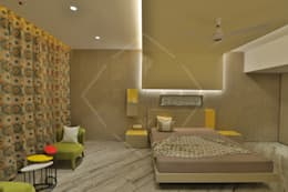 EXPRESSION: modern Bedroom by SPACCE INTERIORS