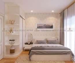 Thiết kế nội thất phòng ngủ master:  Phòng ngủ by Công Ty TNHH Xây Dựng & Nội Thất ECO Việt Nam