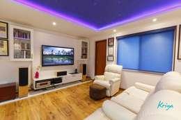 3 BHK Apartment - Fairmont Towers, Bengaluru: classic Media room by KRIYA LIVING