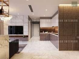 Nội thất Châu Âu hiện đại trong căn hộ Vinhomes Central Park:  Nhà bếp by ICON INTERIOR