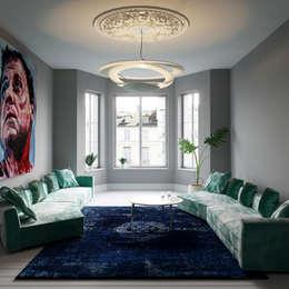 غرفة المعيشة تنفيذ Fibi Interiors