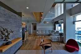living area : minimalistic Living room by Design Paradigm