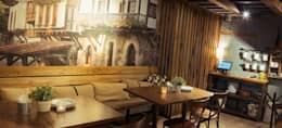 RESTAURANTE LA TASCA DEL MONTAÑES : Restaurantes de estilo  por SHMN ARQUITECTURA