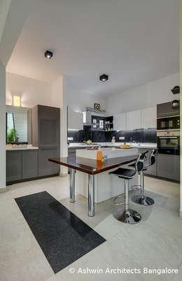 Kitchen Interior Design: modern Kitchen by M/S Ashwin Architects