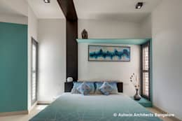 Bedroom Interior Design: modern Bedroom by M/S Ashwin Architects