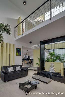 Living Room Design: modern Living room by M/S Ashwin Architects