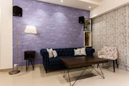 kandivili residence: modern Living room by Rennovate Home Solutions pvt ltd
