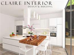 Kitchen Set Modern Minimalist:  Dapur built in by Claire Interior Design & Building