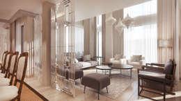 Lounge: modern Living room by Dessiner Interior Architectural