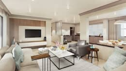 Tv Room: modern Media room by Dessiner Interior Architectural