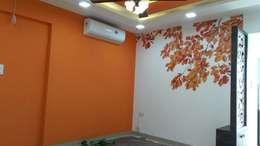 Mr. Udaybhan Singh Thakur Retirement Home: minimalistic Living room by al-Haadi Interiors