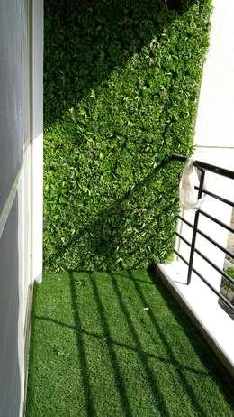 Mr. Udaybhan Singh Thakur Retirement Home: minimalistic Garden by al-Haadi Interiors