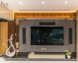 Interior: modern Living room by Hinge architects