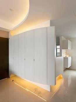 用色彩說故事:一個人的豪宅新生活:  走廊 & 玄關 by 禾光室內裝修設計 ─ Her Guang Design