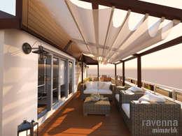 Ravenna Mimarlık Restorasyon – Teras:  tarz Teras