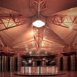Lucernario bodega: Gastronomía de estilo  por Bórmida & Yanzón arquitectos