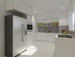 Modular kitchen : modern Kitchen by Rhythm  And Emphasis Design Studio