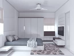 Project 20- The perfect combination of style and simiplicity: modern Bedroom by Rhythm  And Emphasis Design Studio