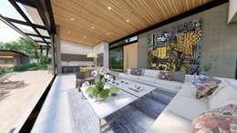 Casa de campo calima / astratto  : Salas de estilo moderno por astratto
