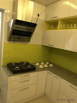 Nitesh Flushing Meadows - 3BHK -1560sqft - Fully Furnished:  Built-in kitchens by Enrich Interiors & Decors