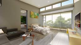 Main Bedroom:   by Blunt Architects