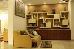 Villa Renovation of Mr Tanmay Banerjee Kolkata: modern Living room by Cee Bee Design Studio