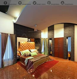 Architecture: modern Bedroom by TRIANGLE HOMEZ