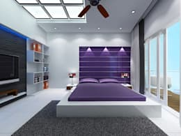 MINIMALISTIC GUEST BEDROOM: minimalistic Bedroom by TRIANGLE HOMEZ