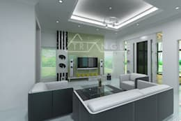 Budget White Interior:   by TRIANGLE HOMEZ